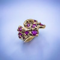 18k Gold with Ten 3ct Rubies 01215GM - $3,800.00