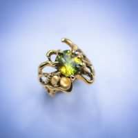 18k Gold with 3.44ct Green Sphene 01280GM - $3,000.00