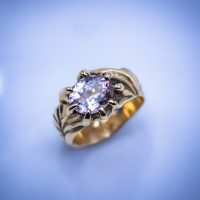 14k Gold with 2.1ct Morganite 01284GM - $1,400.00