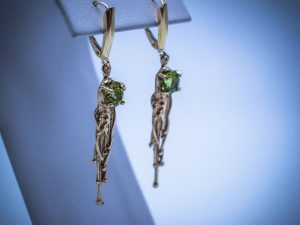 02850GM - Gold/Rain/Peridot Gold Rain Earrings ($425.00)